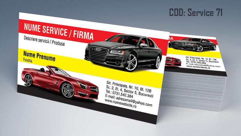 Carti de vizita service auto model cod 71 CDVi