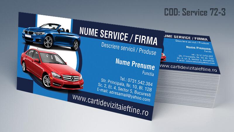 Carti de vizita service auto model cod 72-3 CDVi