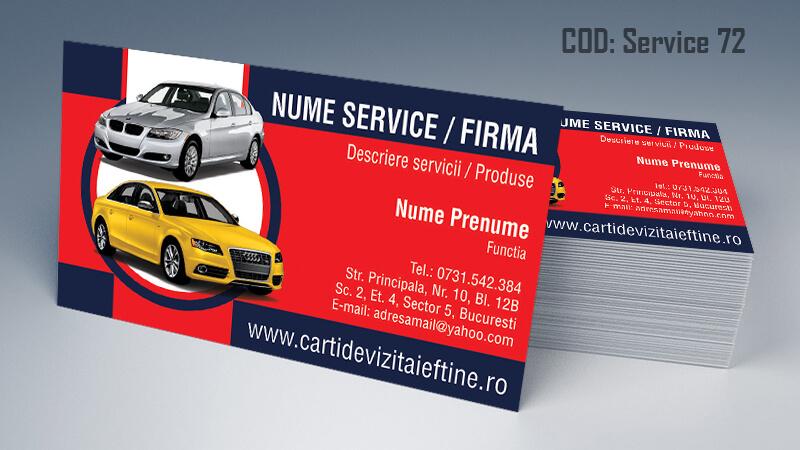 Carti de vizita service auto model cod 72 CDVi