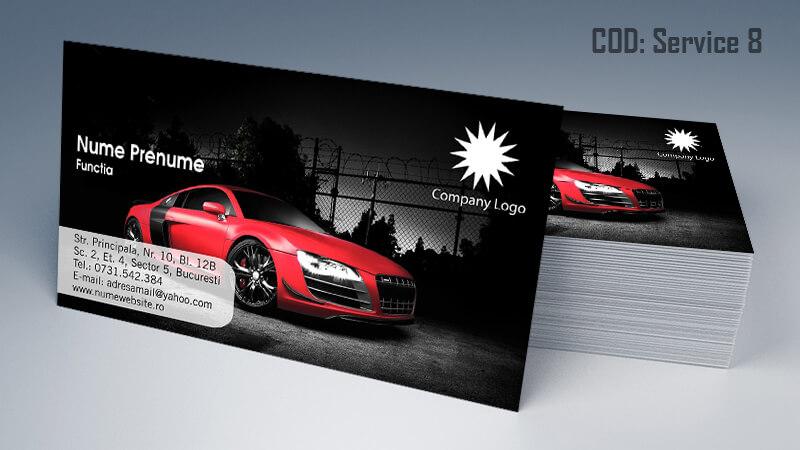 Carti de vizita service auto model cod 8 CDVi