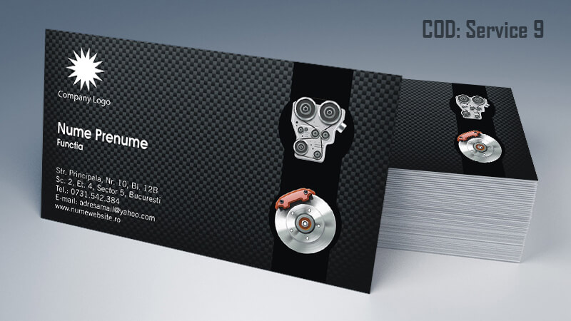 Carti de vizita service auto model cod 9 CDVi
