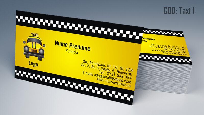 Carti de vizita taxi model taximetrist 1 CDVi