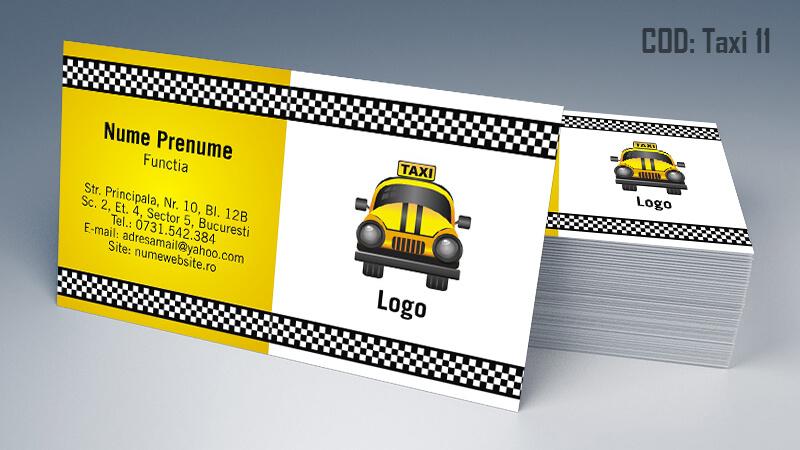 Carti de vizita taxi model taximetrist 11CDVi