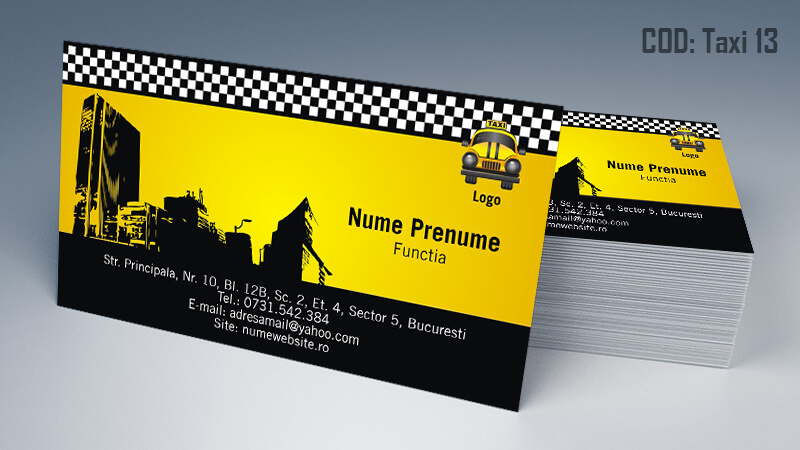 Carti de vizita taxi model taximetrist 13 CDVi