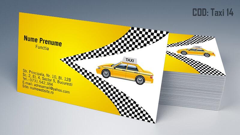Carti de vizita taxi model taximetrist 14 CDVi