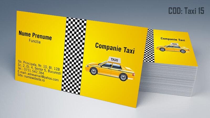 Carti de vizita taxi model taximetrist 15 CDVi