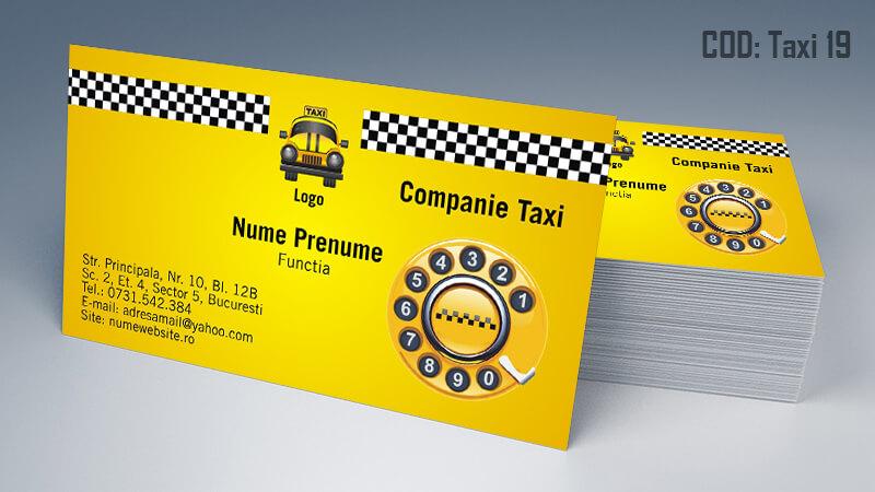 Carti de vizita taxi model taximetrist 19 CDVi