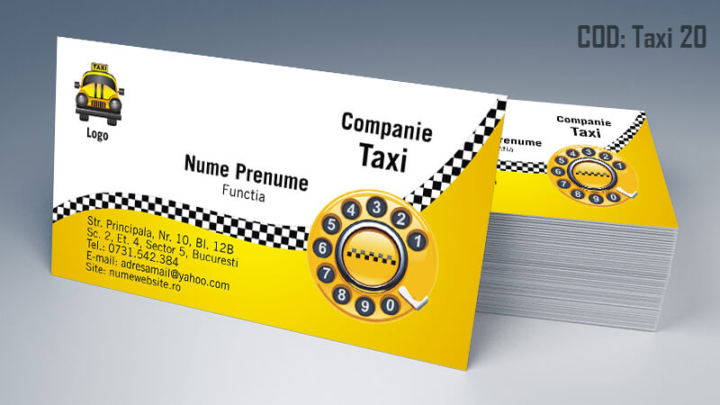 Carti de vizita taxi model taximetrist 20 CDViCarti de vizita taxi model taximetrist 20 CDVi