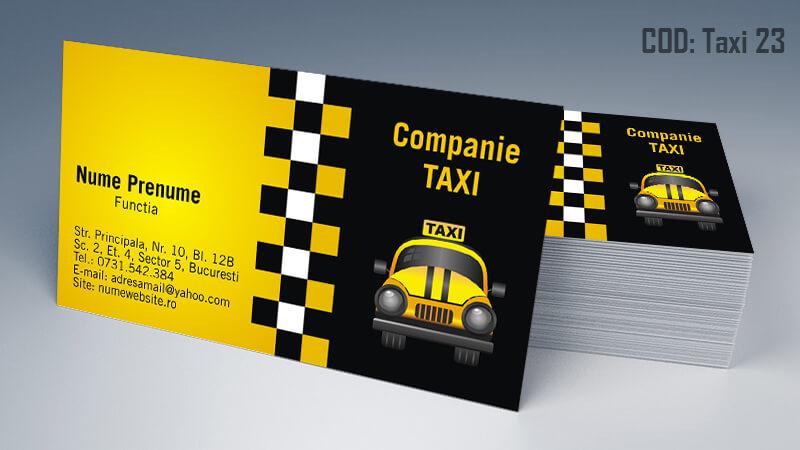 Carti de vizita taxi model taximetrist 23 CDVi