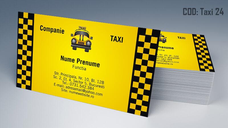 Carti de vizita taxi model taximetrist 24 CDVi