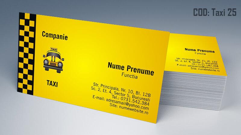 Carti de vizita taxi model taximetrist 25 CDVi