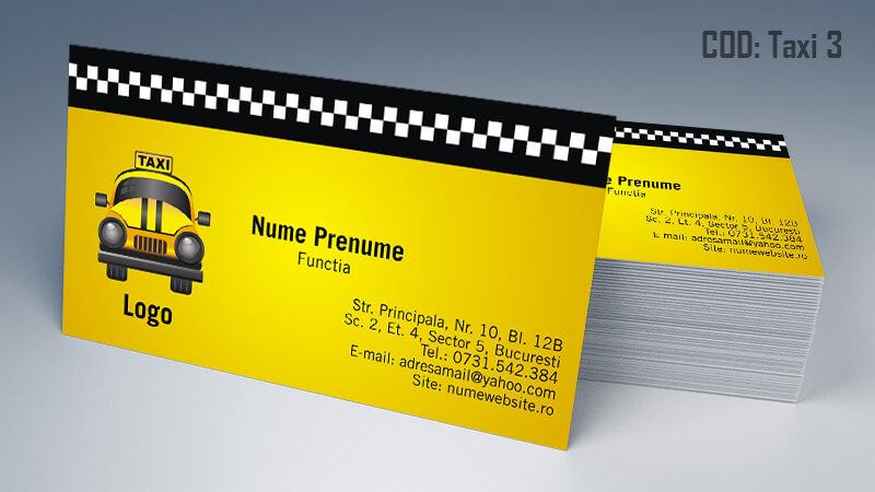 Carti de vizita taxi model taximetrist 3 CDVi