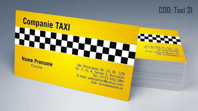 Carti de vizita taxi model taximetrist 31 CDVi