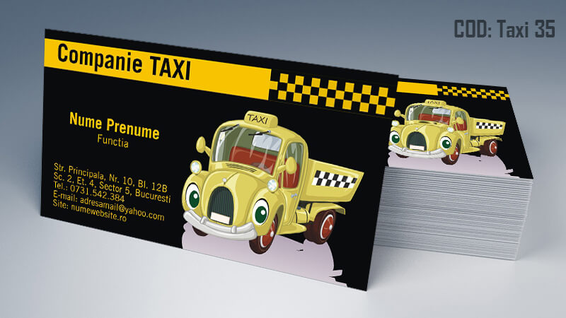 Carti de vizita taxi model taximetrist 35 CDVi