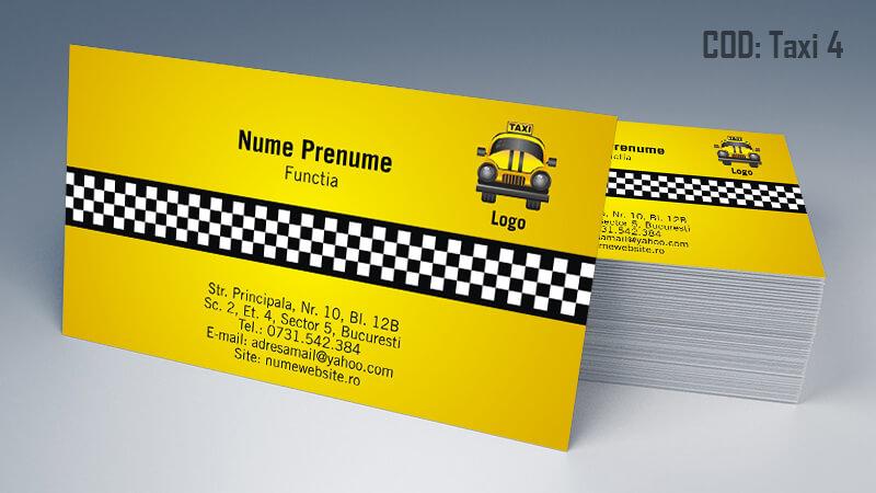 Carti de vizita taxi model taximetrist 4 CDVi