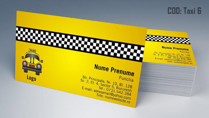 Carti de vizita taxi model taximetrist 6 CDVi