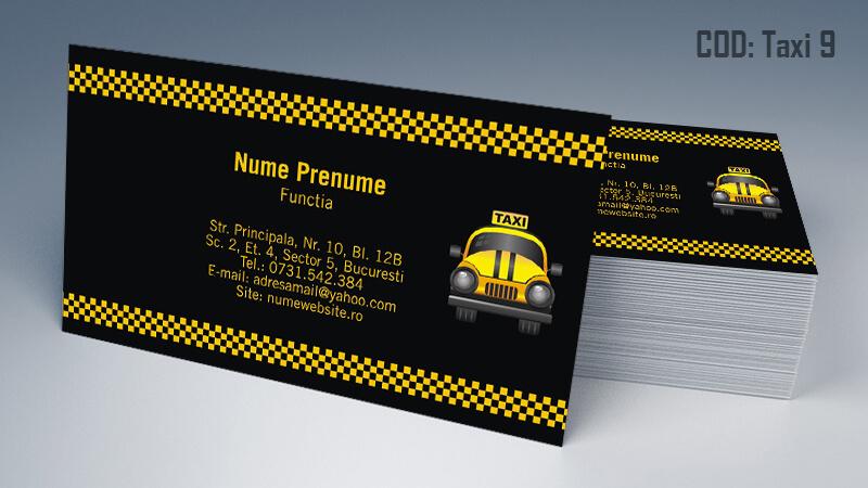 Carti de vizita taxi model taximetrist 9 CDVi