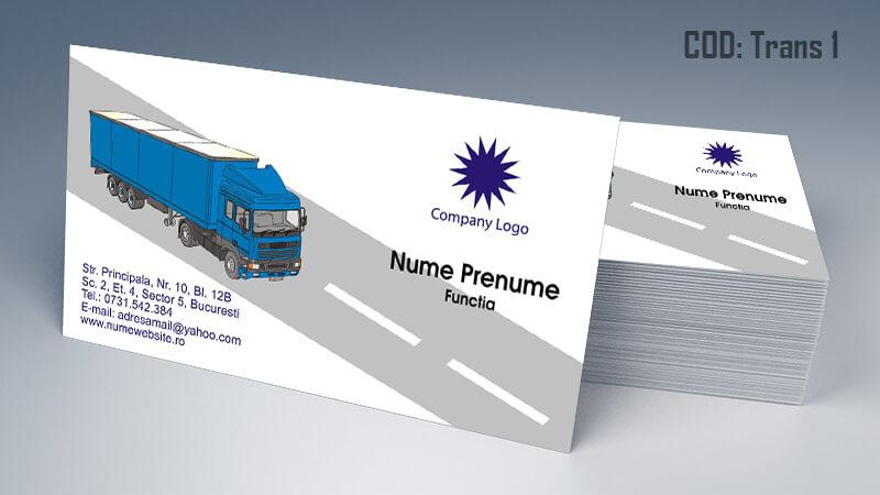 Carti de vizita transport persoane marfa model 1 CDVi