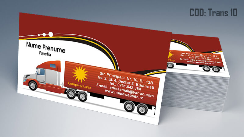Carti de vizita transport persoane marfa model 10 CDVi