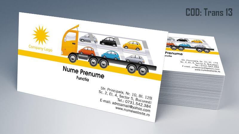 Carti de vizita transport persoane marfa model 13 CDVi