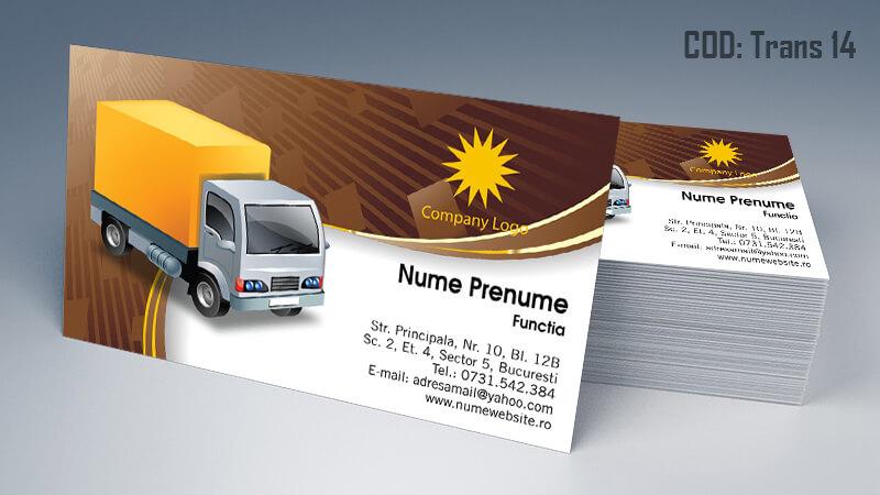 Carti de vizita transport persoane marfa model 14 CDVi