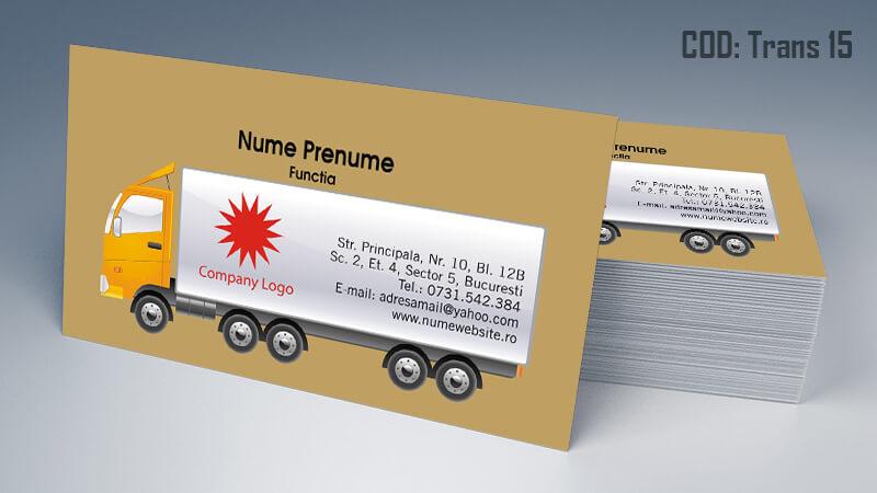 Carti de vizita transport persoane marfa model 15 CDVi