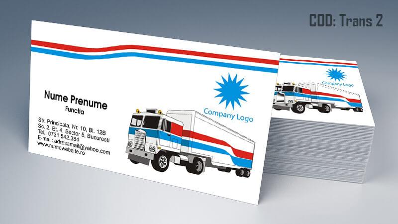 Carti de vizita transport persoane marfa model 2 CDVi