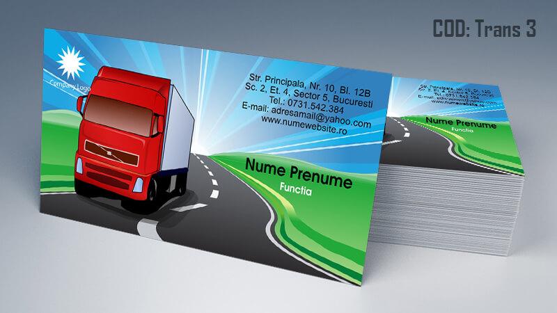 Carti de vizita transport persoane marfa model 3CDVi