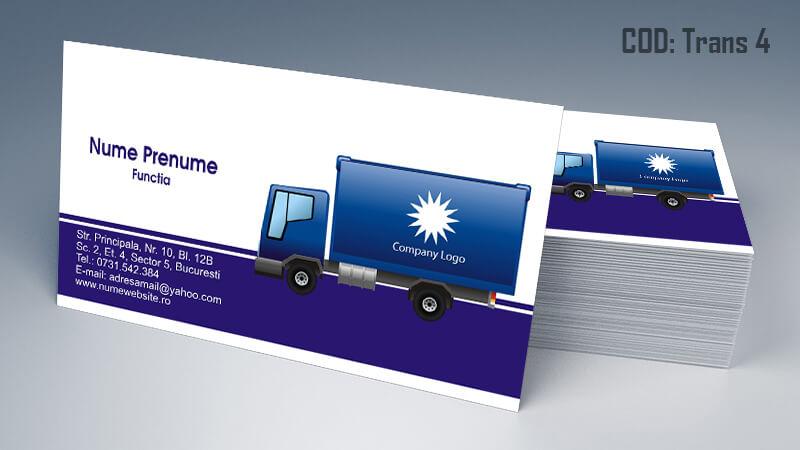 Carti de vizita transport persoane marfa model 4 CDVi