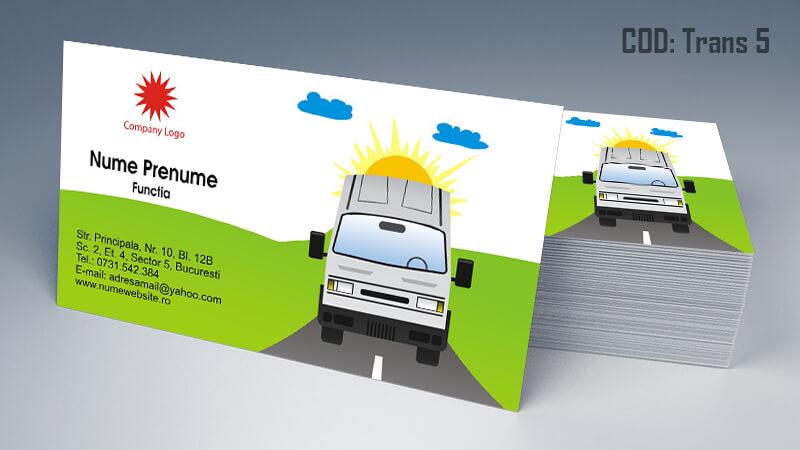 Carti de vizita transport persoane marfa model 5 CDVi