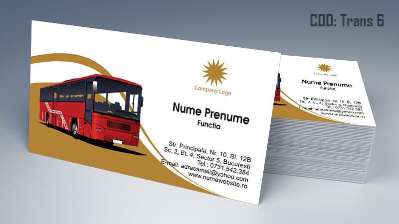 Carti de vizita transport persoane marfa model 6 CDVi