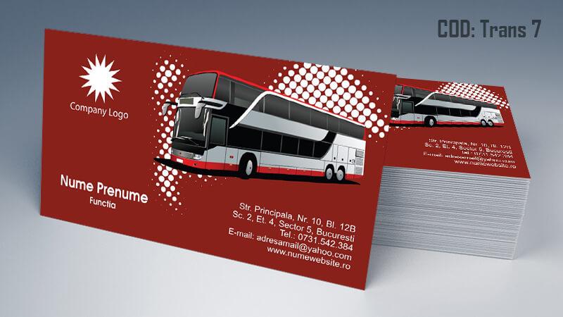 Carti de vizita transport persoane marfa model 7 CDVi