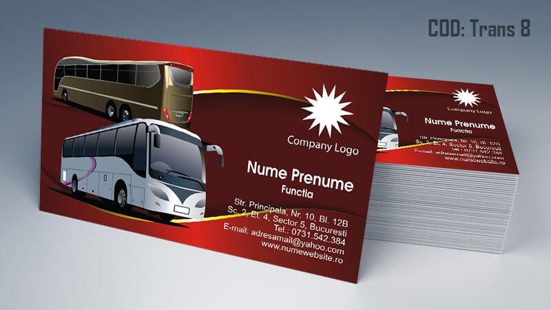 Carti de vizita transport persoane marfa model 8 CDVi
