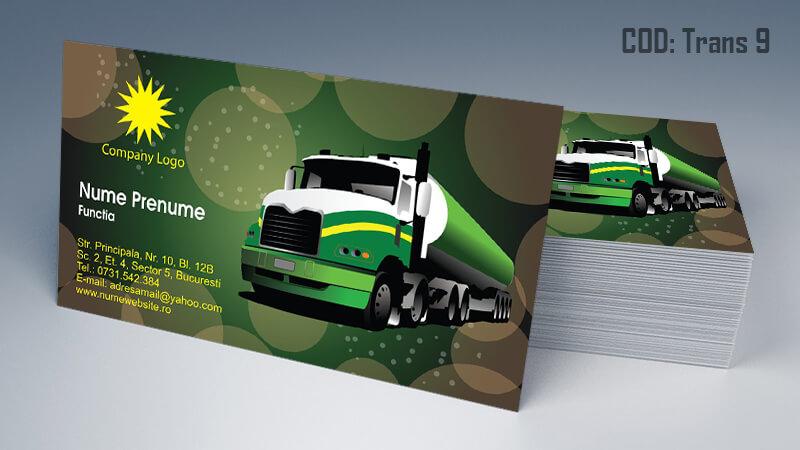 Carti de vizita transport persoane marfa model 9 CDVi