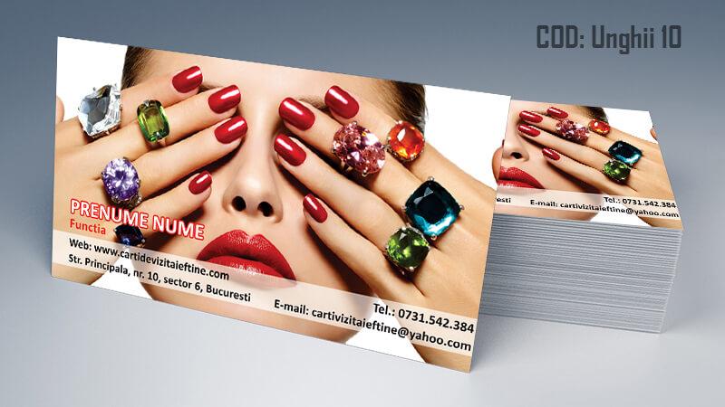 Carti de vizita unghii false model 10 CDVi