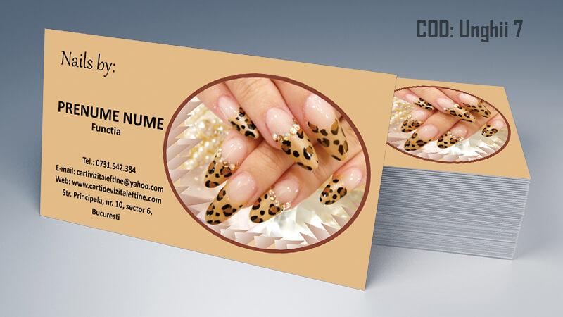 Carti de vizita unghii false model 7 CDVi