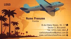 Carti de vizita agentie de turism - Cod-Agt-11