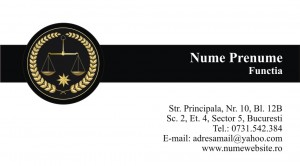 Carti de vizita avocat - Cod Avo4