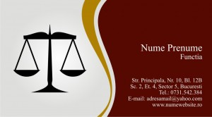 Carti de vizita avocat - Cod Avo7