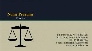 Carti de vizita avocat - jurist - Cod Avo9