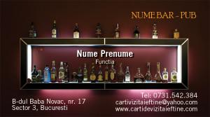 Carti de vizita bar-pub-terasa - Cod-Bar-12