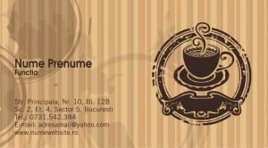 Carti de vizita cafea - cafenele - Cod Cafea13