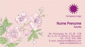 Carti de vizita - Cod Flor07