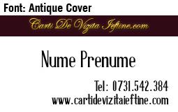 carti-vizita-retro-font Antique Cover