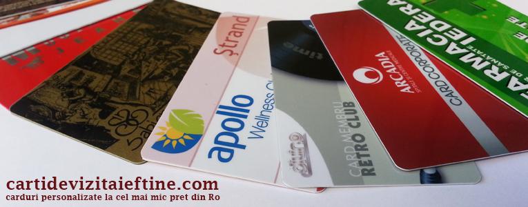 Carduri Personalizate plastic PVC