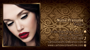 Carti de vizita Machiaj - Make up artist-14