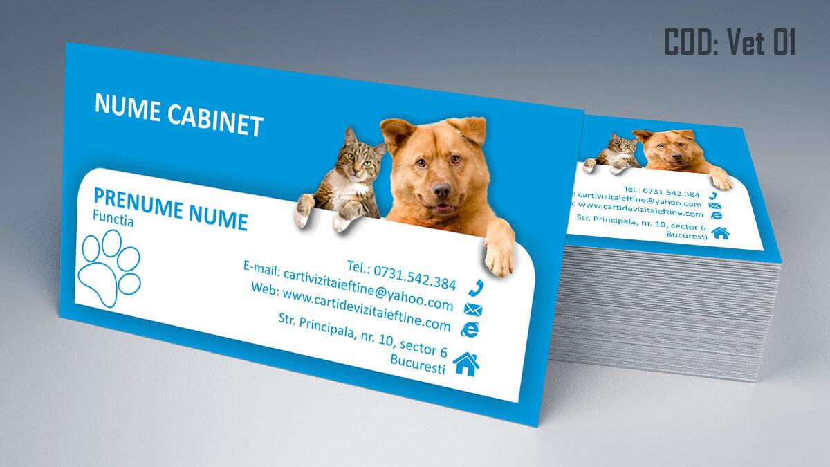 Carti de vizita cabinet veterinar farmacie veterinara clinica 01