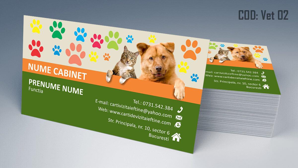 Carti de vizita cabinet veterinar farmacie veterinara clinica 02
