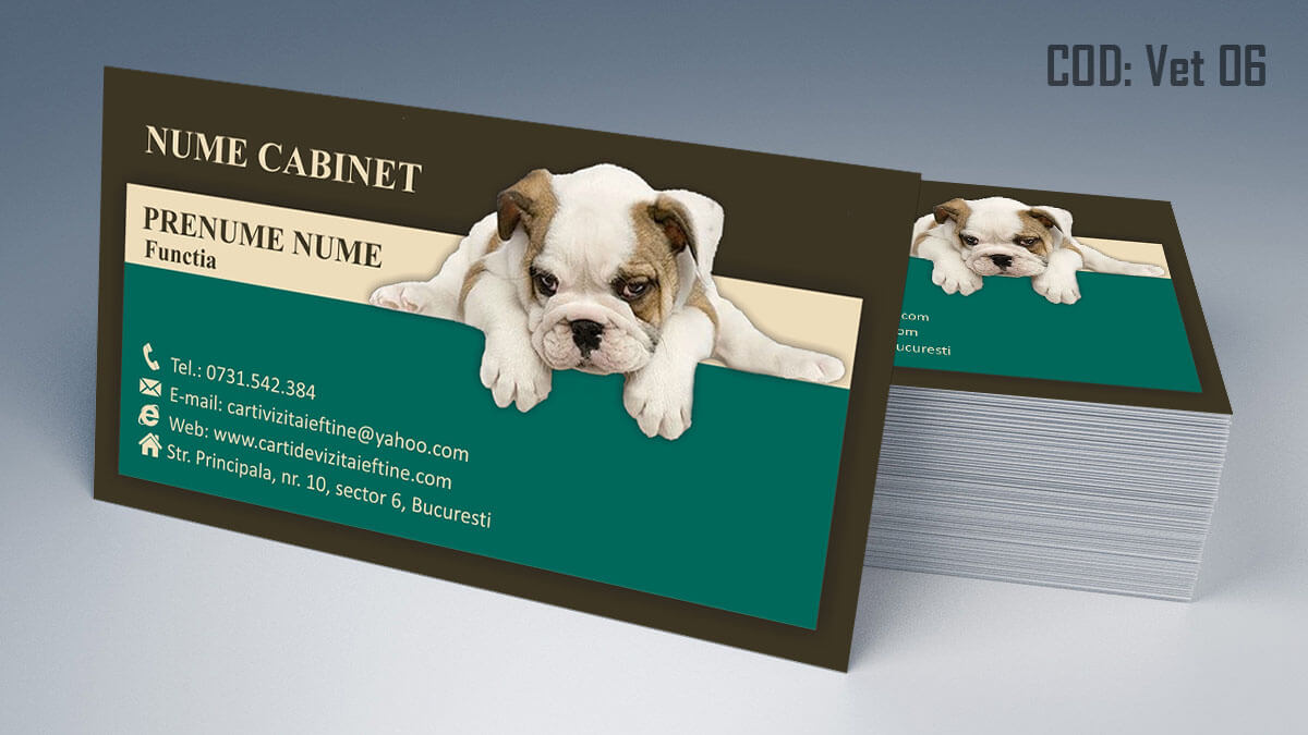 Carti de vizita cabinet veterinar farmacie veterinara clinica 06