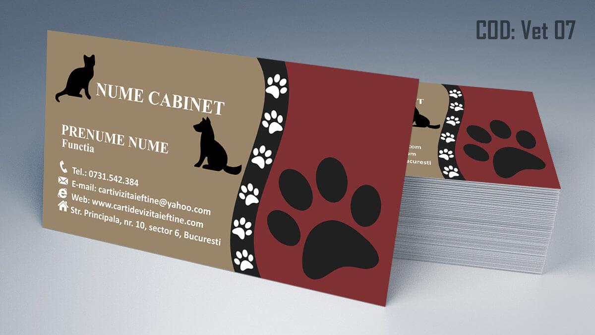 Carti de vizita cabinet veterinar farmacie veterinara clinica 07
